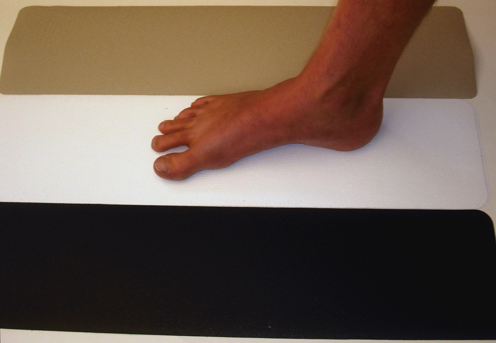 Non-Abrasive anti-slip tape treads